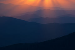 Sunbeams Great Smoky Mountains Royalty Free Stock Photos