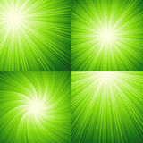 Sunbeams green  vector illustration background Stock Photos