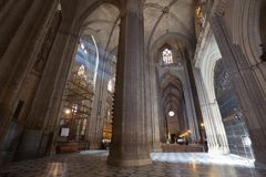 Sunbeams In Catedral De Sevilla, Spain Stock Images