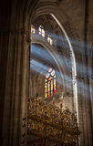 Sunbeams in Sevilla Cathedral, Spain Royalty Free Stock Images