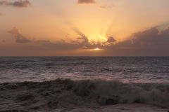 Sunbeams at sunset Royalty Free Stock Photography