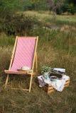 Sunbed在公园 免版税库存图片