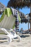 Sunbed στην παραλία, Κούβα, Varadero Στοκ φωτογραφίες με δικαίωμα ελεύθερης χρήσης