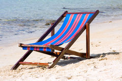 Sunbed on the beach Royalty Free Stock Photo