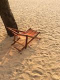 Sunbed. At a beach Stock Photography
