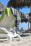 Lounge chair on the beach, Cuba, Varadero Royalty Free Stock Photos