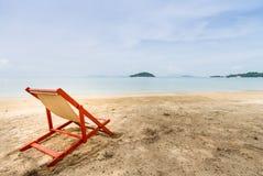Sunbed on the beach Stock Photography