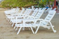Sunbed or chair on the tropical beach Stock Photos