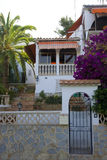 Sunbed I. Entrance and fence of a mediterranean house in Majorca Royalty Free Stock Photography