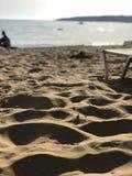 Sunbed i Cypern fotografering för bildbyråer