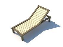 Sunbed isolerade på den vita illustrationen för bakgrund 3D royaltyfri illustrationer
