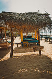 Sunbed na plaży Zdjęcia Royalty Free