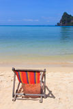 Sunbed on Phi Phi island i Stock Photos