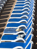 Sunbed reserved Royalty Free Stock Image