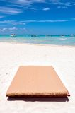 Sunbed on tropical beach in Isla Mujeres, Mexico Stock Photos