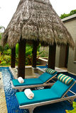 sunbeds спы outodoor ванны роскошные Стоковое Фото