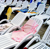 Sunbeds Stock Images