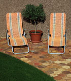 Sunbeds Stock Photography