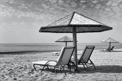 Sunbeds Stock Photography