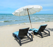 Sunbeds at the beach. Sunbeds at the Thailand beach, Photo taken on: July 5th, 2013 Stock Images