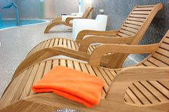 Sunbeds In The Fitness Royalty Free Stock Images