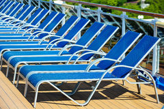 Sunbeds Royalty Free Stock Photos