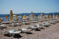 Free Sunbeds On Golden Cape, Croatia Stock Photography - 13782352