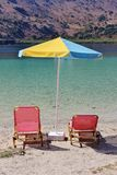 Sunbeds and Parasol Royalty Free Stock Photo