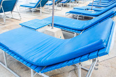 Sunbeds for relaxing Royalty Free Stock Photo