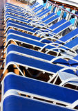 Sunbeds Royalty Free Stock Photo
