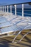 Sunbeds sul cruiseship Fotografie Stock Libere da Diritti