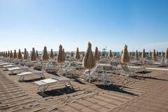 Empty beach on Adria, Italy