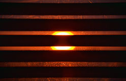 Sunblind en de zon Stock Afbeelding