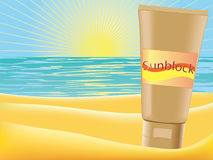Sunblock Royalty Free Stock Photography