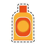 Sunblock or sunscreen icon image Stock Photo
