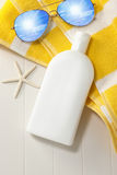 Sunblock Sunscreen Vacation Product Stock Photo