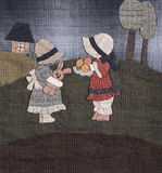 Sunbonnet sue applique quilt detail stock photography