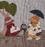 Sunbonnet sue applique quilt detail Royalty Free Stock Photography