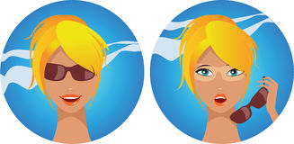 Sunburn. A woman's face with a bad case of sunburn Royalty Free Stock Photos