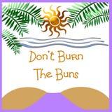 sunburn ostrzeżenie royalty ilustracja