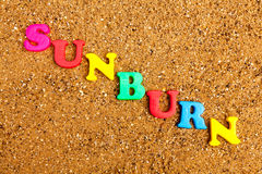 Sunburn Stock Images