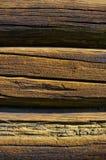 Sunburned zimmerte Wand Lizenzfreie Stockbilder