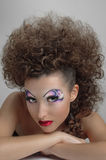 Sunburnt curly girl Stock Image
