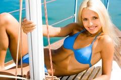 Sunburnt model Royalty Free Stock Photos