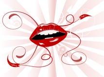 sunburst губ Стоковые Фото