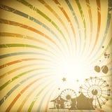 sunburst предпосылки ретро Стоковые Фото