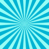 sunburst предпосылки ретро Центральная голубая картина, линия Солнця Стоковые Фото
