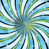 sunburst разбивочной спирали Стоковая Фотография RF