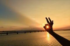 sunburst стоковая фотография rf