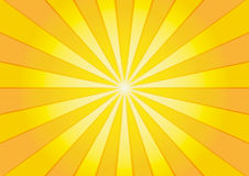Sunburst. Beautiful orange and yellow sunburst background Royalty Free Stock Photography